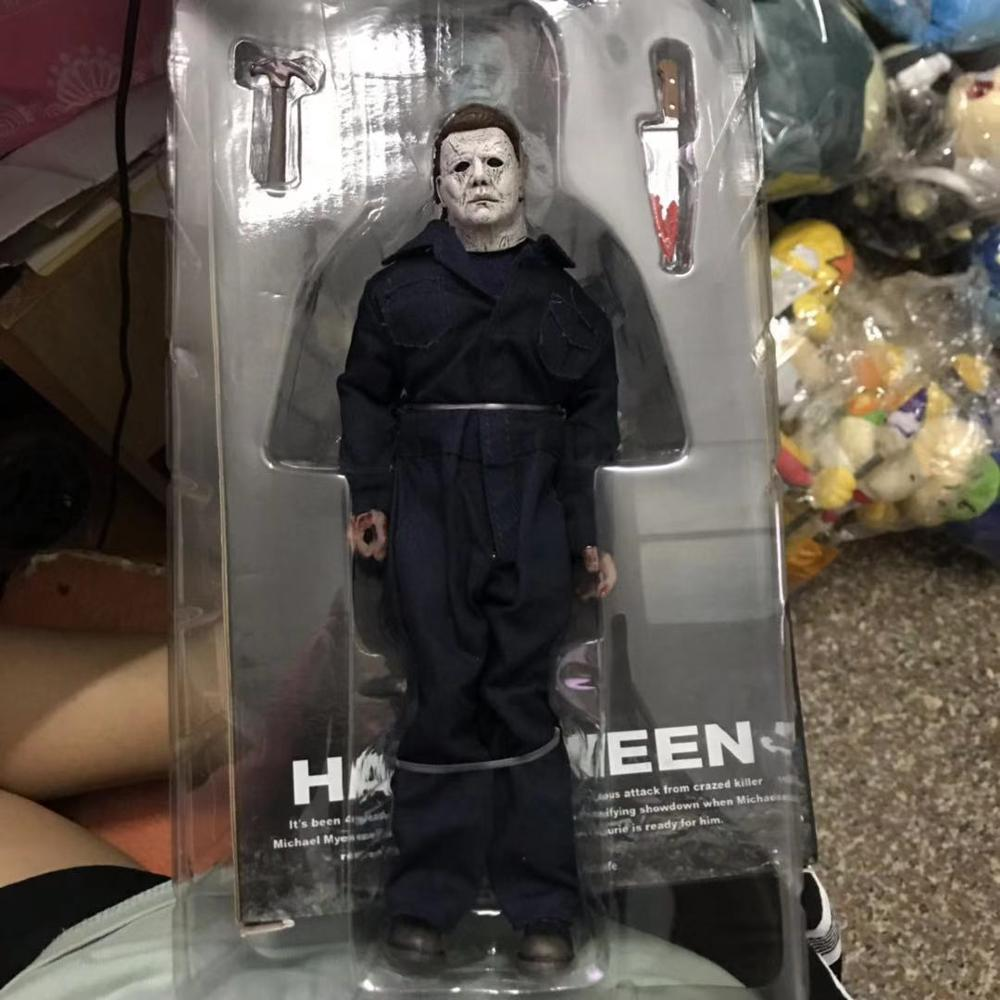 Image 2 - 18CM Original NECA New Halloween Ultimate Real clothes Michael Myers Action Figure PVC Joint movable collection toy giftAction & Toy Figures   -