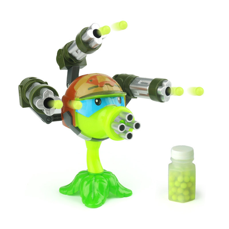 1PCS Interesting Plants Vs Zombies Anime Figure Launch  Model Toy 15cm  Pea Shoote High Quality Launch Toys For Children