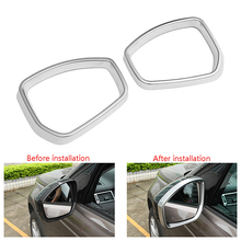 YIWANG Carbon Fiber Style For Land Rover Range Rover Sport 2014-2018 ABS Plastic Car Rearview Mirror Cover For Land Rover Discovery 4 2010-2016 Side Wing Mirror Cap Parts