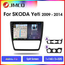 JMCQ Android 9.0 Car Radio for Skoda Yeti 5L 2009-2014 2din GPS Navigaion Multimedia Video Player Split Screen Stereo with Frame недорого
