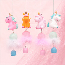Cute LED Night Light Unicorn Wind Chime For Home Decoration Christmas Valentine'S Day Wedding Party Girl Gift Pink D30