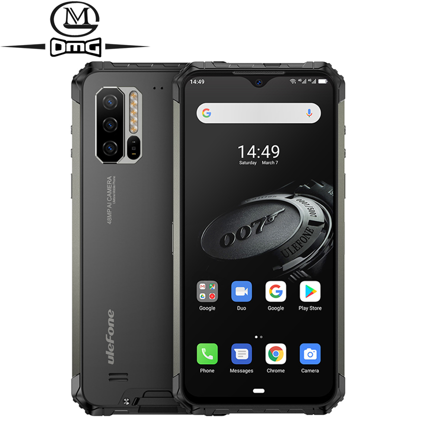 Ulefone Armor 7E NFC Rugged Smartphone 4GB + 128GB Android 9.0 Helio P90+ IP68 shockproof Mobile Phone 5500mAh Global Version