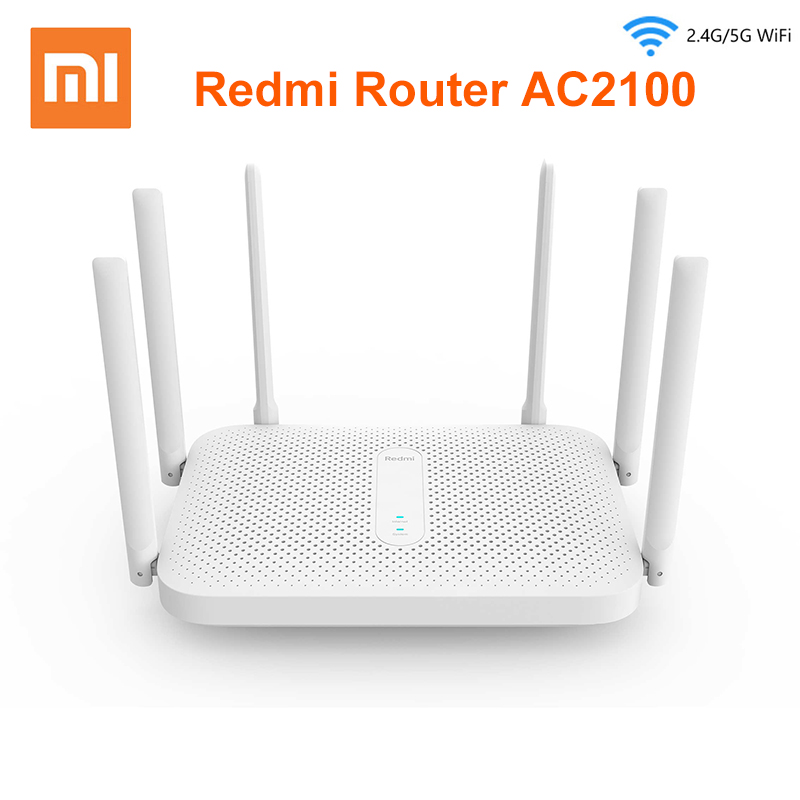 Xiaomi Redmi AC2100 Router Gigabit 2 4G 5 0GHz Dual-Band 2033Mbps Router Wifi Repeater With 6 High Gain Antennas Wider