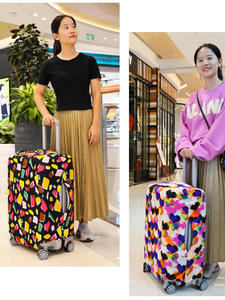 Suitcase-Cover Luggage-Case Essential-Accessories Heart-Shaped Stripe High-Elastic Fashion
