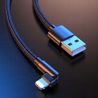 Cavo USB rotante a 180 ° per iPhone 12 11 Pro Max X XR 6 SE 6 S 7 8 Plus iPad lungo 1m 2m cavo dati caricabatterie rapido cavo cellulare