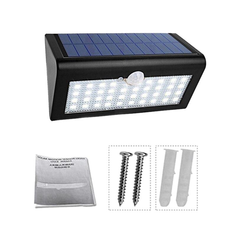 ELEG 600Lm 38Led Outdoor Solar Wall Light Super Bright Garden Light Human Body Induction Wall Lamp Ip65 Waterproof Light Motion|Outdoor Wall Lamps| |  - title=