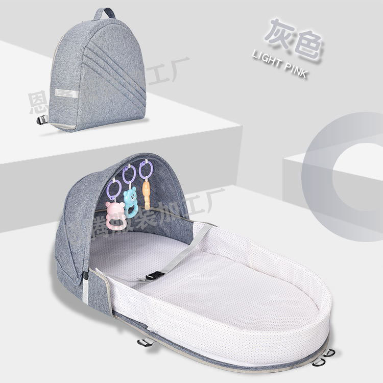 Co-Sleeping Cribs Baby Cradle Travel Bed Easy Fold Sleeping Next Baby Nest Bed Crib Portable Removable Washable Crib Travel Bed