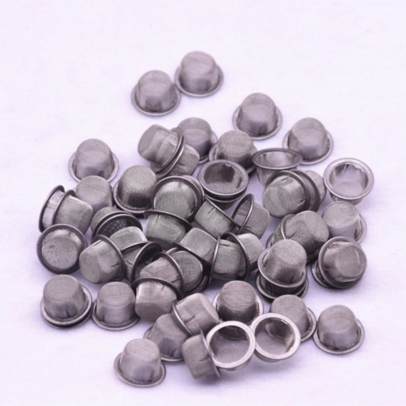100 Grids Smoking Pipe Metal Ball Stainless Steel Filter Screen Filter Mesh Smoking Weed Tobacco Accessories image
