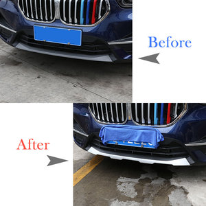 Image 2 - Car styling Front & Rear Bumper Guard Sill Plate Protector Cover Trim Stickers ABS Chrome For BMW X1 F48 2020 Exterior Accessory