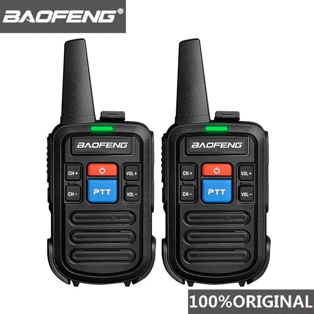 Из 2 предметов Baofeng bf-c50 мини иди и болтай Walkie Talkie дети Портативный Ham Радио Comunicador UHF PTT Woki токи удобно двухстороннее радио HF трансивер