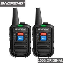 2 pçs baofeng bf-c50 mini walkie talkie crianças portátil rádio presunto comunicador uhf ptt woki toki hf hf rádio em dois sentidos acessível transceptor