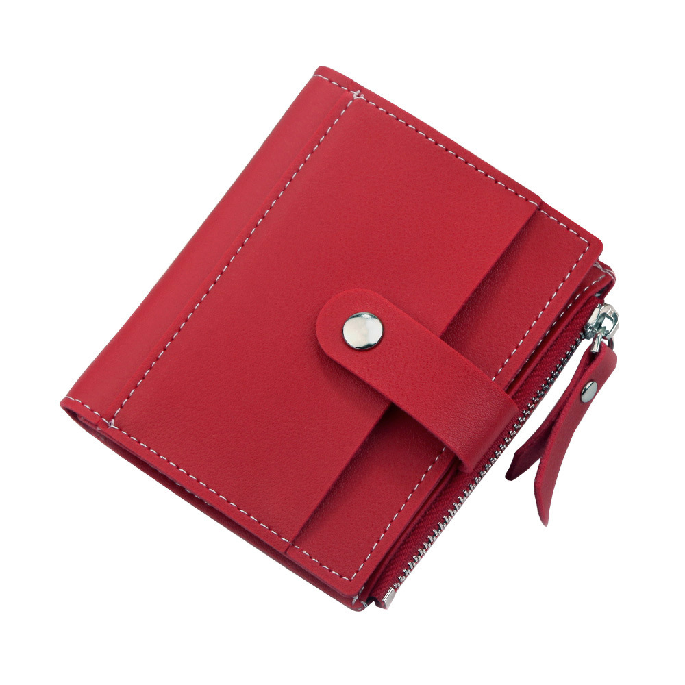 Роскошные Брендовые женские кошельки, длинный модный кошелек из искусственной кожи с застежкой, Женский кошелек, клатч, женский кошелек, кошелек для монет - Цвет: Short-Red