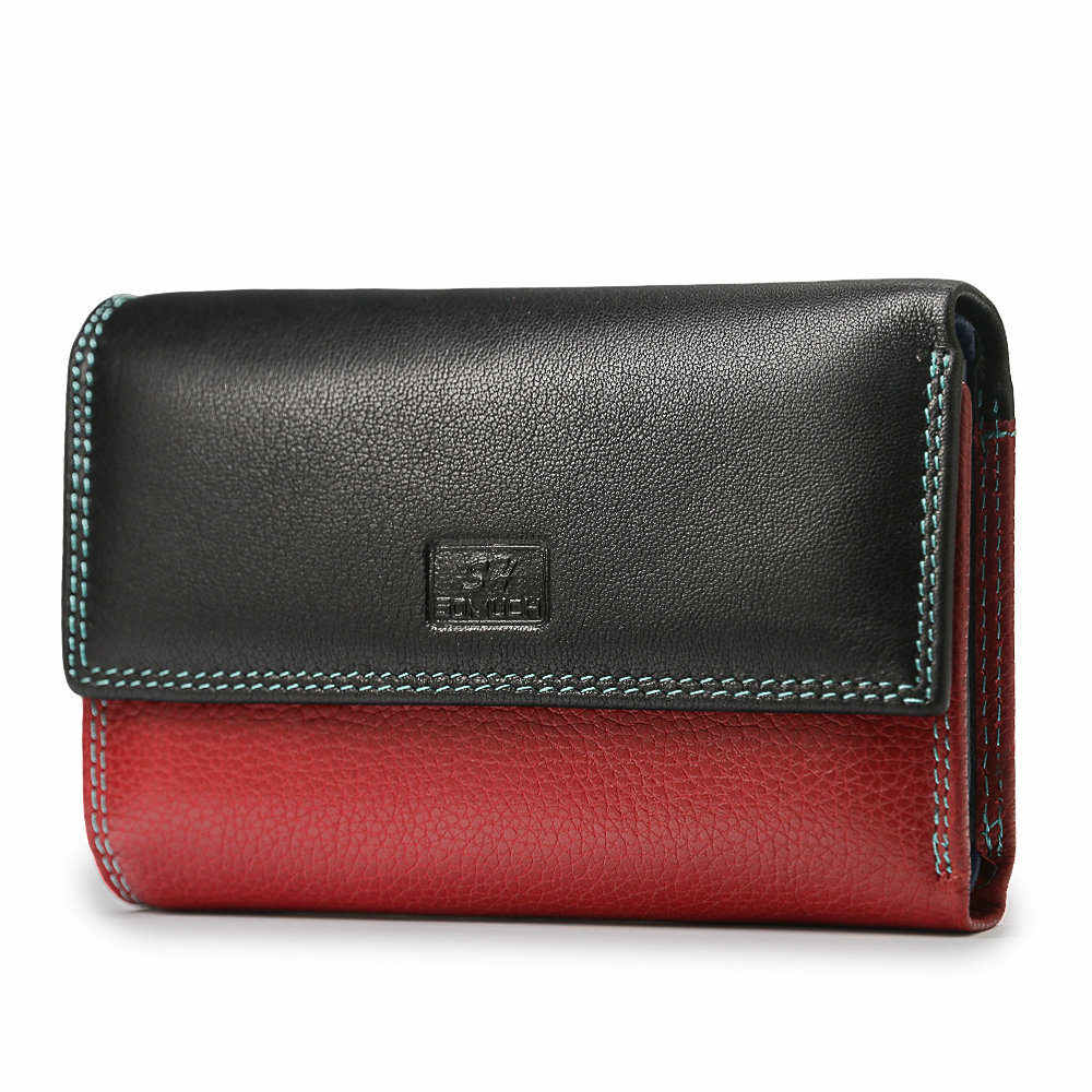 Beth Cat Fashion Wallet Women Genuine Leather Wallets Female Coin Purse Short Deisgner Wallet Lady Magnetic Buckle Clutch Bag
