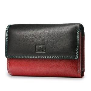 Beth Kat Mode Portemonnee Vrouwen Echt Lederen Portefeuilles Vrouwelijke Portemonnee Korte Deisgner Portemonnee Dame Magnetische Gesp Clutch Bag(China)