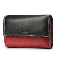 Beth Katze Mode Brieftasche Frauen Aus Echtem Leder Brieftaschen Weibliche Geldbörse Kurze Deisgner Brieftasche Dame Magnetische Schnalle Kupplung Tasche-in Geldbeutel aus Gepäck & Taschen bei