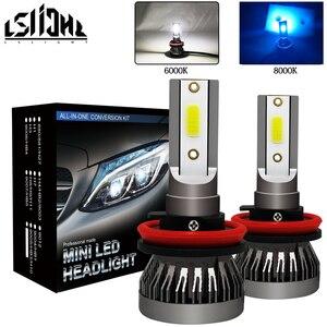 Image 1 - LSlight bombilla de faro LED para coche, 12v, 55W, 9005 k, 9006 k, ampolla Turbo, H7 H4 H11 H1 H9 9012 6000 HB2 HB3 HB4 8000