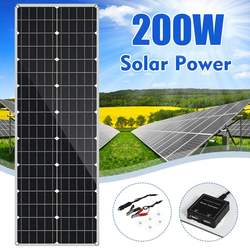 LEORY 18V Panel Solar 200W Flexible Panel Solar de silicio monocristalino al aire libre ciclismo escalada senderismo Camping Solar bateador