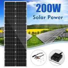 LEORY-Panel Solar De Silicio Monocristalino Flexible para exteriores, Panel Solar de 18V, 200W, para ciclismo, escalada, senderismo, Camping