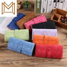 Long Wallet Matting Skin Split Wallet Women's Solid Color Hundred Hand Package