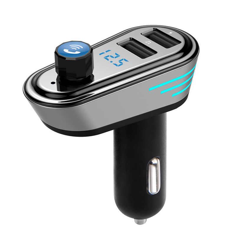 車 MP3 プレーヤー Bluetooth 音楽車 KitAp02 ハンズフリー Fm トランスミッタ変調器サポート U ディスクデュアル USB 車充電アダプタ