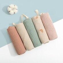 5 Pcs Towel Baby Facecloth Bath Towel Handkerchief Cotton Burp Cloth Washcloth