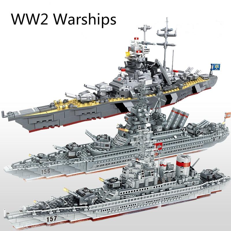 ww2 navios de guerra militares serie blocos de construcao navio de guerra modelo ww2 soldado militar