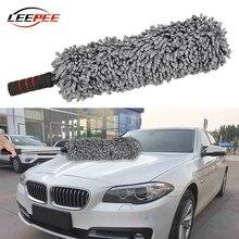 Chiffon doux en microfibre pour voiture, brosse, poussière, polisseuse, outil de lavage, poignée télescopique, moto, accessoires dintérieur