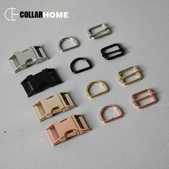 20 sets metal adjustable belt buckles 15mm 20mm 25mm 30mm D rings for dog collar DIY sewing accessories chain link tri-glide