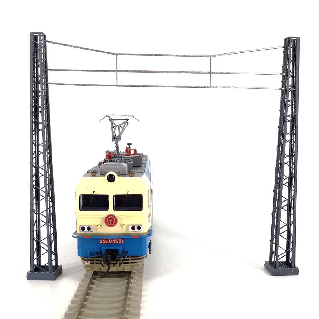 1:87 HO Scale Train Railway Scene Decoration Assembly Brackets Model With  Crossing Net Wire Model For Sand Table