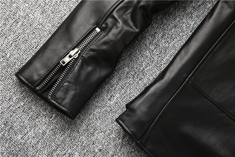 He84c4202c2d54d2e9e5bc0aa3105ed1ab Free shipping,Sales!Brand new genuine leather jacket.mens motor biker sheepskin coat.slim plus size jackets.leather outwear