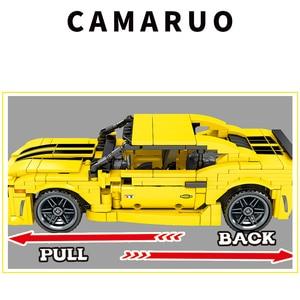 Image 2 - Sembo City Technic F1 sport Racer model klocki Mustang wyścigówka cegły dzieci zabawka edukacyjna prezent dla dzieci