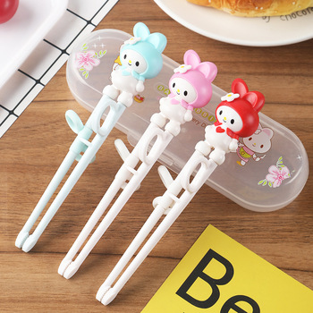 ABS Children's Tableware Baby Practice Complementary Chopsticks Correct Creative Cartoon Learning - discount item  20% OFF Kitchen,Dining & Bar