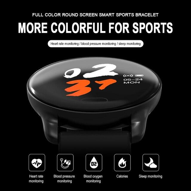 K9 Smartwatch kobiety opaska monitorująca aktywność fizyczną IP67 wodoodporny tętno ciśnienie krwi zdrowy sen sport inteligentny zegarek mężczyźni PK V11 V12 Q9