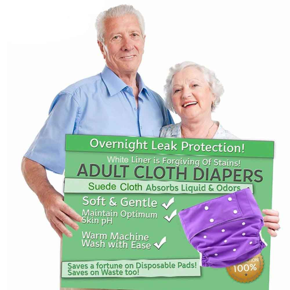 Reusable Adult Diaper For Old People And Disabled Super Large Size Adjustable TPU Coat Waterproof Incontinence Pants Undewear