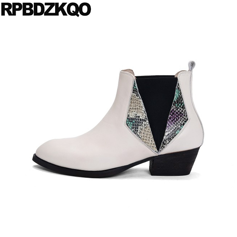 famous brand super cheap 100% quality plus size chunky big snake chelsea booties crossdresser 10 ...