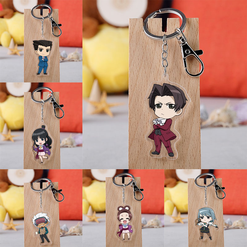 Gyakuten Saiban Ace Keychain Cartoon Figure Model Attorney Key Ring