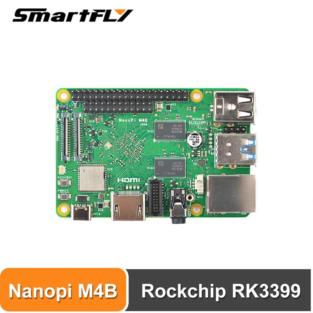 NanoPi M4B 2 ГБ DDR3 Rockchip RK3399 двухканальная зеркальная Двойная камера, поддержка Android 8,1 Ubuntu Lubuntu, Совместимость с RPi B3 +