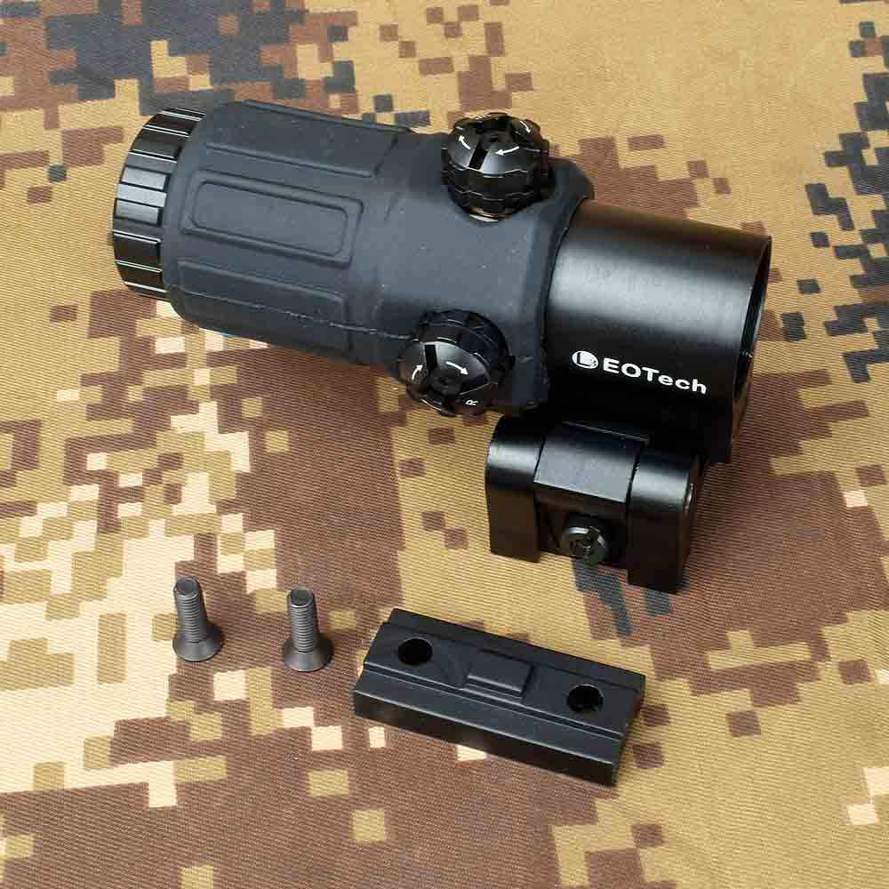 Outdoor Hunting Scope G33 3X Vergrootglas Holographic Sight Scope Voor 20mm Weaver Rail Mounts met Schakelaar om Side Quick afneembare