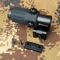 Outdoor Hunting Scope G33 3X Magnifier Holographic Sight Scope For 20mm Weaver Rail Mounts with Switch to Side Quick Detachable
