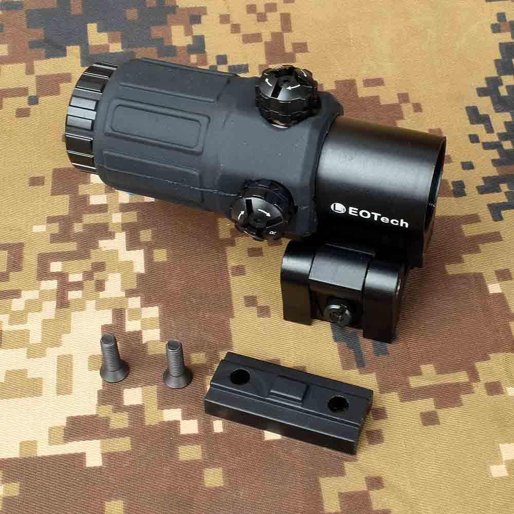 Outdoor Hunting Scope G33 3X Vergrootglas Holographic Sight Scope Voor 20mm Weaver Rail Mounts met Schakelaar om Side Quick afneembare