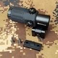 Outdoor Jagd Umfang G33 3X Lupe Holographische Anblick bereich Für 20mm Weber schiene Halterungen mit Schalter zu Seite Schnell abnehmbare-in Zielfernrohre aus Sport und Unterhaltung bei