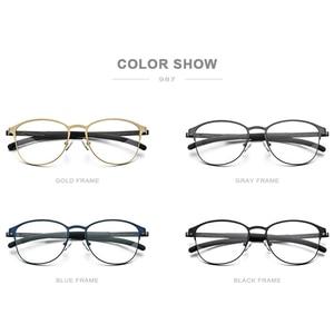 Image 4 - FONEX Silicone Alloy Optical Eye Glasses Frames for Women Round Myopia Prescription Eyeglasses Men 2020 Screwless Eyewear 987