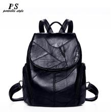 Women Backpack sheepskin Leather Backpack Women new fashion Hotsale School Bags for Teenagers Fashion Backpacks for Teenage Girl cheap PORTABLE STYLE Genuine Leather Embossing Softback 20-35 Litre Interior Slot Pocket Cell Phone Pocket Interior Zipper Pocket