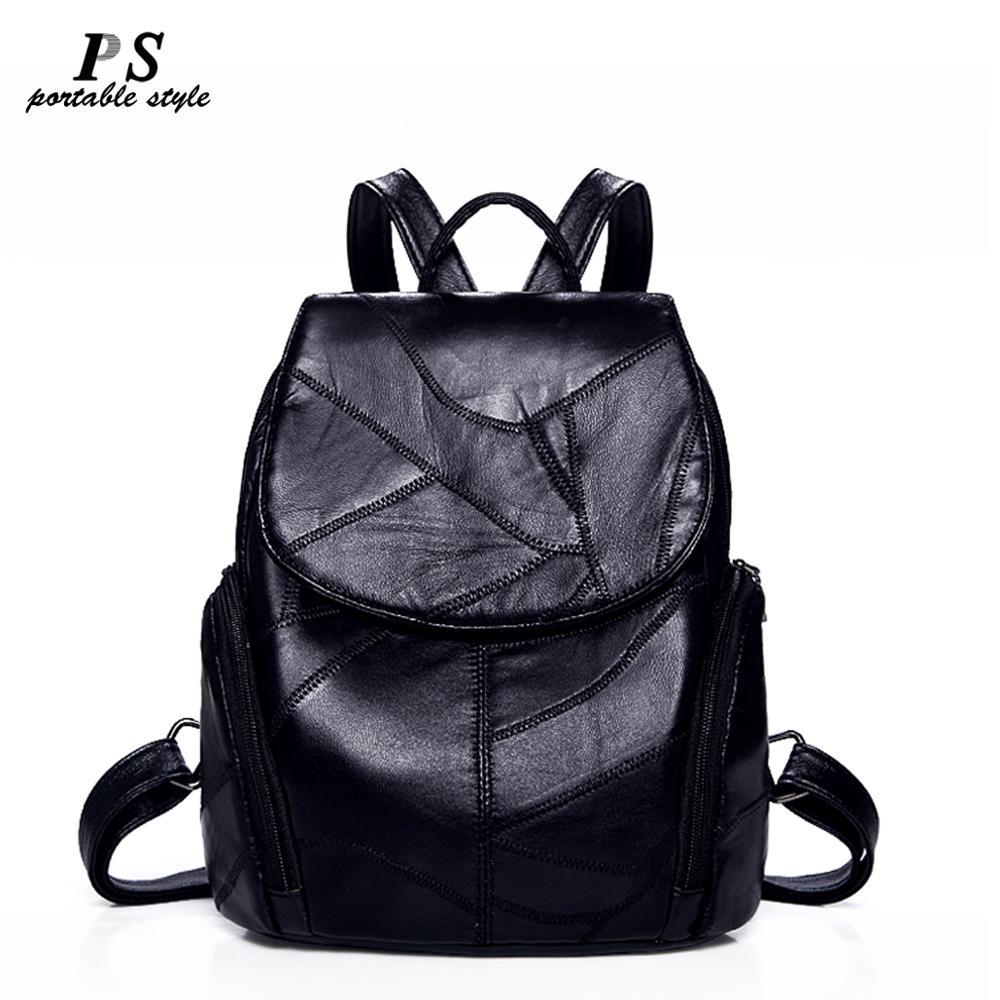 Women Backpack Sheepskin Leather Backpack Women New Fashion Hotsale School Bags For Teenagers Fashion Backpacks For Teenage Girl