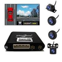 Weivision-sistema de cámara de visión redonda para todos los coches, dispositivo Universal con 4 paneles DVR, con vista de pájaro, grabación panorámica, 360