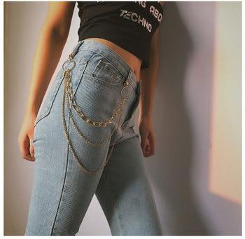 Cinto Feminino Metal Punk Chain Belt Three-layer Waist Chain Golden Chain Belt Bag Chain Hip-hop Nightclub Wild Pants Chain фото