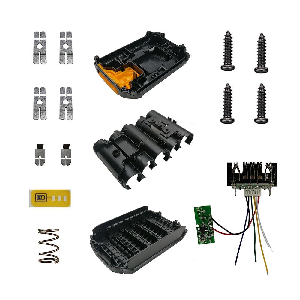 DCB203 5 Core Li-ion Battery Plastic Case PCB Charging Protection Circuit Board Box For Dewalt 18V 20V DCB183 Lithium Cell Shell