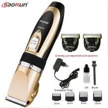 Tondeuse à cheveux électrique pour hommes, rasoir avec lame en céramique Rechargeable, accessoire de coiffeur, 110 240V AC