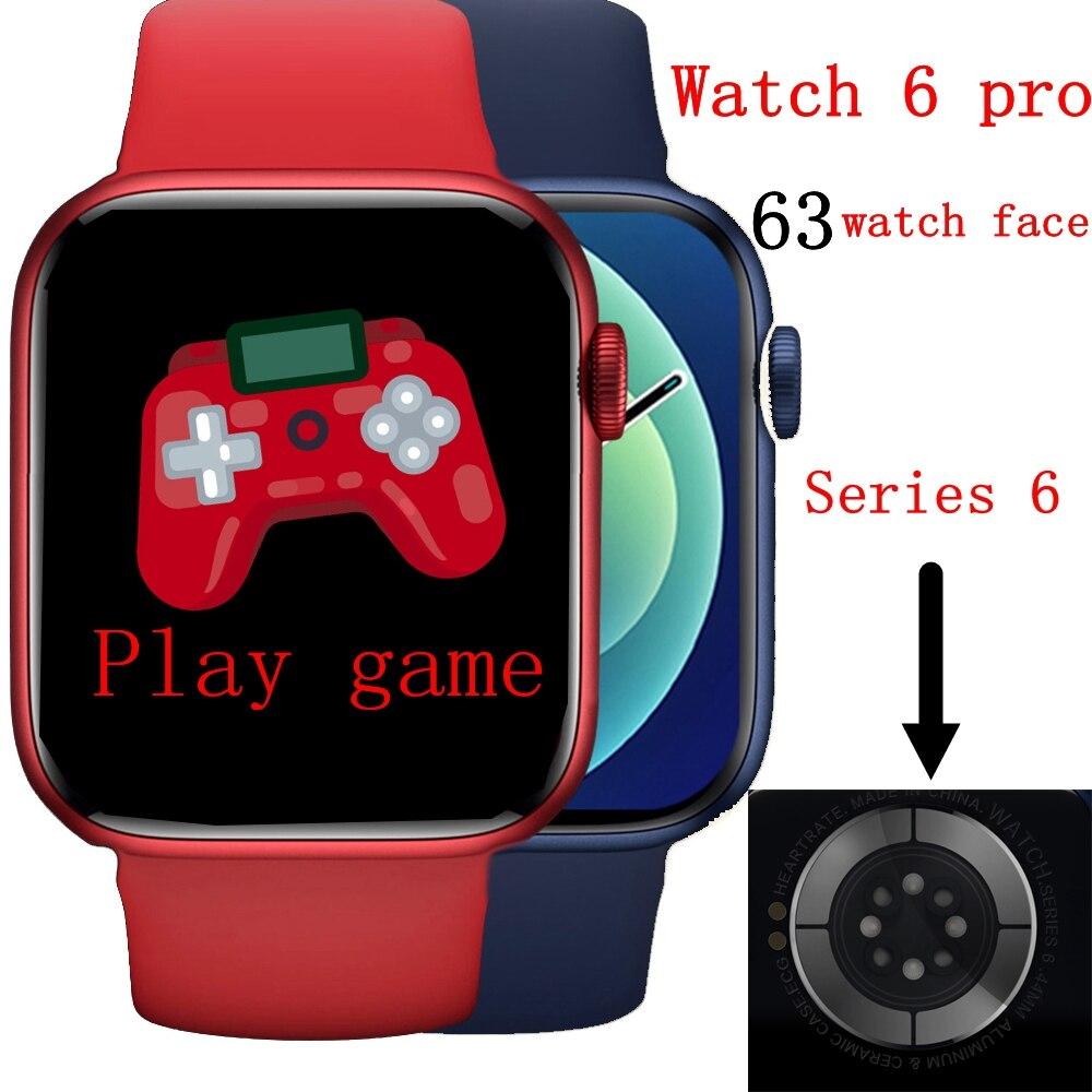 Умные женские часы IWO Watch 6 pro, Смарт-часы AK76 с bluetooth, вызовами, монитором здоровья игры, мужские Смарт-часы PK x16 w46 w26, Смарт-часы