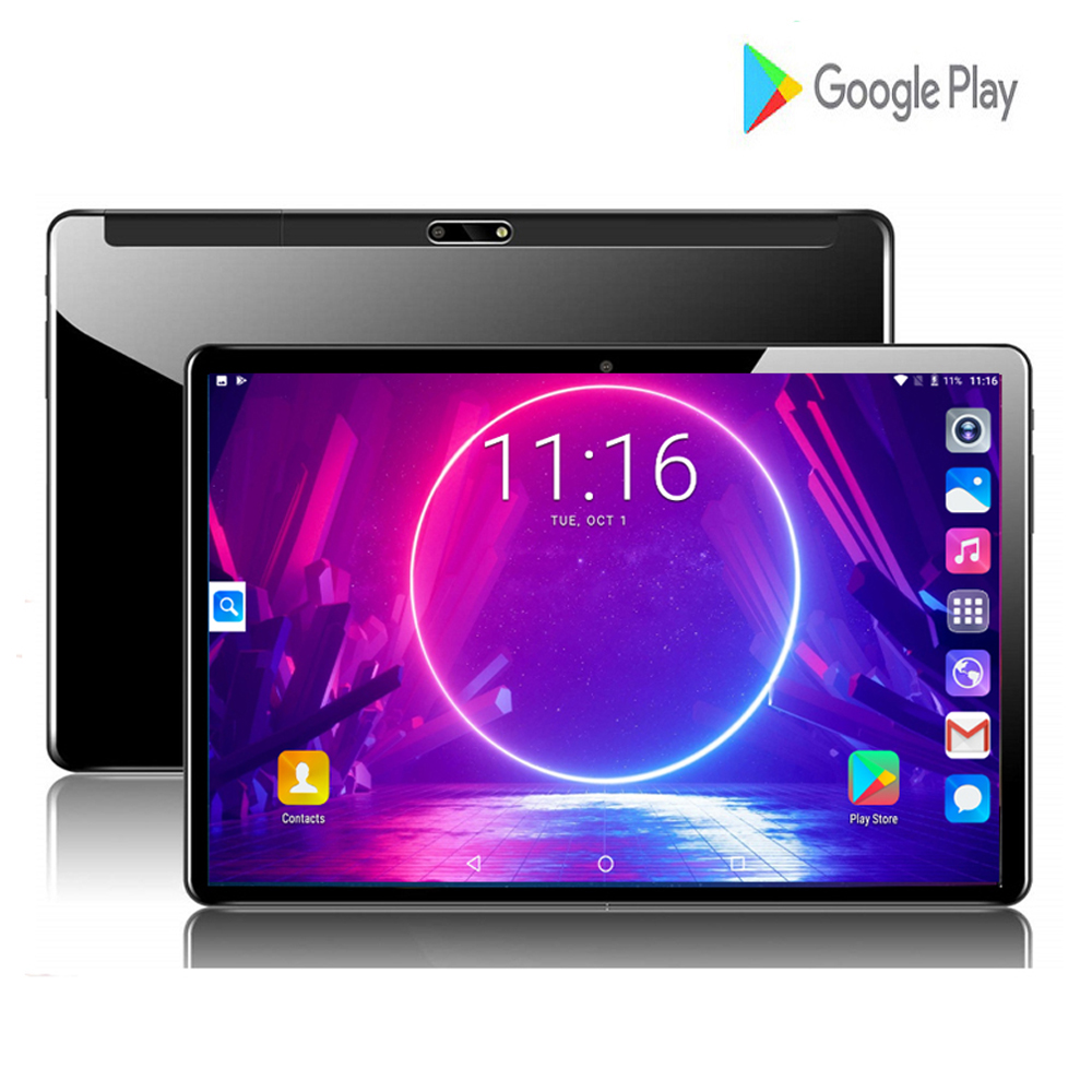 New Tempered Glass 10inch Tablet PC Quad Core 2GB RAM 32GB ROM 3G Android 7.0 GPS WiFi Tablet PC With 64GB Memory Card Gifts
